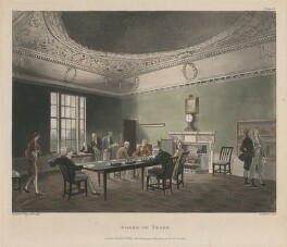 'Board of Trade', by Thomas Sunderland, published by  Rudolph Ackermann, after  Thomas Rowlandson, and after  Auguste Charles Pugin - NPG D48865