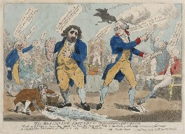 The Wrangling Friends or Opposition in Disorder, possibly by Isaac Cruikshank, published by  John Nixon, possibly after  Samuel William Fores - NPG D48866