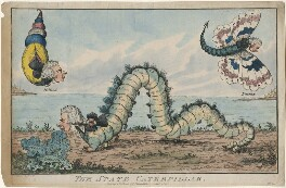 William Pitt ('The State Caterpillar'), by William Hanlon, published by  Samuel William Fores - NPG D48867
