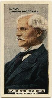 (James) Ramsay MacDonald, issued by Godfrey Phillips - NPG D49048