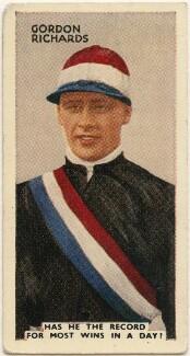 Sir Gordon Richards, issued by Godfrey Phillips - NPG D49074