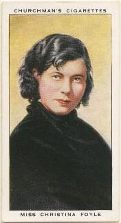 Christina (Agnes Lilian) Foyle (Mrs Ronald Batty), by Mr Douglas, issued by  W.A. & A.C. Churchman - NPG D49157