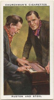 Mr Ruston; Mr Steel, by Mr Douglas, issued by  W.A. & A.C. Churchman - NPG D49180