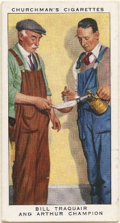 Bill Traquair; Arthur Champion, by Mr Douglas, issued by  W.A. & A.C. Churchman - NPG D49187