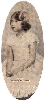 Queen Elizabeth II, by Marcus Adams, issued by  Carreras Tobacco Company - NPG D49298