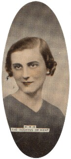 Princess Marina, Duchess of Kent, by Dorothy Wilding, issued by  Carreras Tobacco Company - NPG D49302