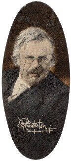 Gilbert Keith ('G.K.') Chesterton, by Unknown photographer, issued by  Carreras Tobacco Company - NPG D49315