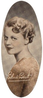 Edna Best, by Unknown photographer, issued by  Carreras Tobacco Company - NPG D49320