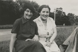 Gladys E. Slay and unknown woman, probably by Beatrice Johnson - NPG x200906