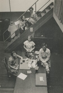 Five members of Dorothy Wilding's studio staff, by Beatrice Johnson - NPG x200913