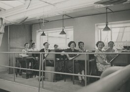 Eight of Dorothy Wilding's studio staff, by Beatrice Johnson - NPG x200919