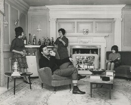 Sir Cliff Richard at home with his mother and sisters, by John Pratt - NPG x196141