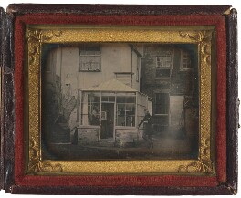 An early photographic studio in London, by Unknown photographer, possibly by  an associate of Jabez Hogg, or possibly by  Jabez Hogg - NPG P2091