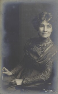 Emmeline Pankhurst, by Lena Connell (later Beatrice Cundy) - NPG x201305