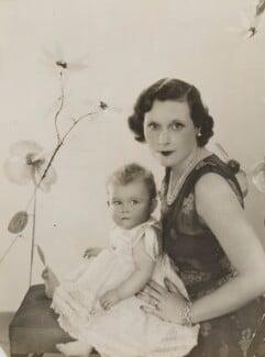 Raine Spencer (née McCorquodale), Countess Spencer; Dame Barbara Hamilton Cartland, by Madame Yevonde - NPG x201374