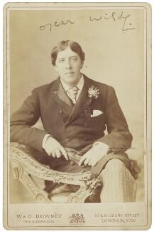 Oscar Wilde, by W. & D. Downey - NPG P2095