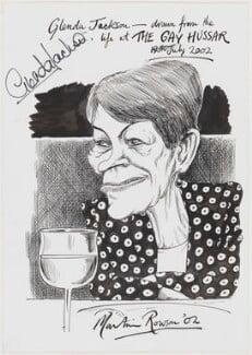 Glenda May Jackson, by Martin Rowson - NPG D49448