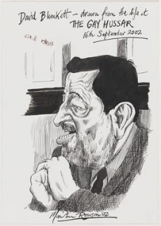 David Blunkett, by Martin Rowson - NPG D49453
