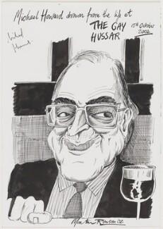 Michael Howard, by Martin Rowson - NPG D49458