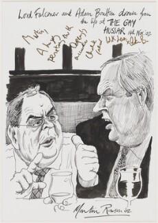 Charles Leslie Falconer, Baron Falconer; Adam Boulton, by Martin Rowson - NPG D49460