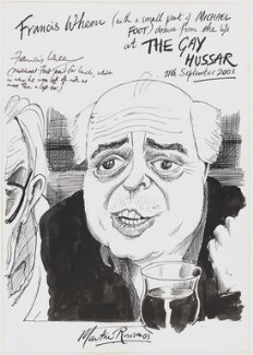 Michael Foot; Francis James Baird Wheen, by Martin Rowson - NPG D49463