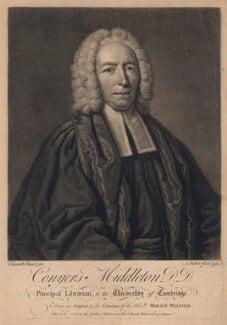 Conyers Middleton, by John Faber Jr, after  John Giles Eccardt - NPG D4971