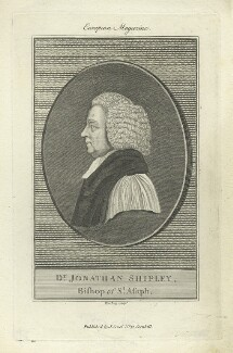 Jonathan Shipley, by Burnet Reading, published by  John Sewell - NPG D4978