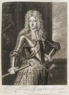Prince George of Denmark, Duke of Cumberland, by and published by John Smith, after  Sir Godfrey Kneller, Bt, 1692 (circa 1690) - NPG D11534 - © National Portrait Gallery, London