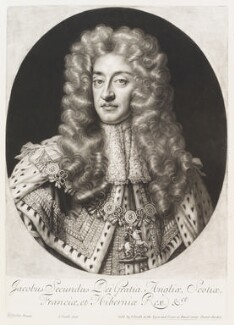 King James II, by and published by John Smith, after  Sir Godfrey Kneller, Bt, 1703 - NPG D11521 - © National Portrait Gallery, London