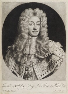 King James II, published by John Smith, after  Sir Godfrey Kneller, Bt, 1718 - NPG  - © National Portrait Gallery, London