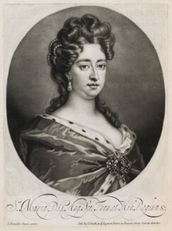 Queen Mary II, sold by John Smith, after  Sir Godfrey Kneller, Bt, 1715-1724 - NPG D11923 - © National Portrait Gallery, London