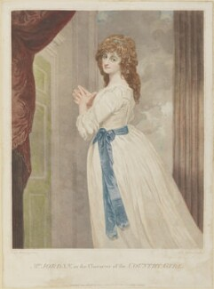 Dorothy Jordan in the character of the 'Country Girl', by John Ogborne, after  George Romney - NPG D8045