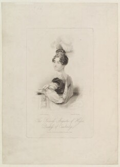 Princess Augusta Wilhelmina Louisa, Duchess of Cambridge, by James Thomson (Thompson), published by  Dean & Munday, after  John Partridge - NPG D16076