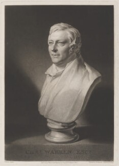 Charles Warren, by Samuel William Reynolds, published by  Colnaghi & Co, after  William Behnes - NPG D14758