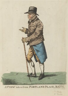 Mr Banks ('A view taken from Portland Place, Bath'), by and published by Robert Dighton - NPG D8721