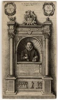 Monument to William Aubrey, by Wenceslaus Hollar, circa 1658 - NPG D1005 - © National Portrait Gallery, London