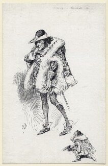 Sir Henry Irving as Richard III, by Harry Furniss, after 1877 - NPG  - © National Portrait Gallery, London