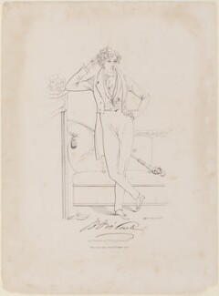 Benjamin Disraeli, Earl of Beaconsfield, by Daniel Maclise, published by  James Fraser - NPG D1032