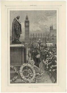 Benjamin Disraeli, Earl of Beaconsfield ('Primrose Day'), by W. Saull - NPG D1034