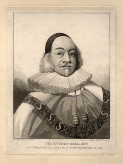 Sir Robert Bell, by William Camden Edwards, published by  Charles Muskett - NPG D1048