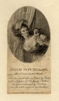 George Anne Bellamy, by Francesco Bartolozzi, after  Francis Cotes - NPG D1049