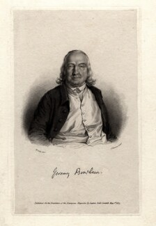 Jeremy Bentham, by James Thomson (Thompson), after  William Derby - NPG D1056