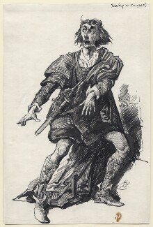 Sir Henry Irving as Macbeth, by Harry Furniss, after 1875 - NPG D106 - © National Portrait Gallery, London