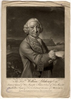 William Blakeney, Baron Blakeney, by James Macardell, after  Sir George Chalmers - NPG D1073