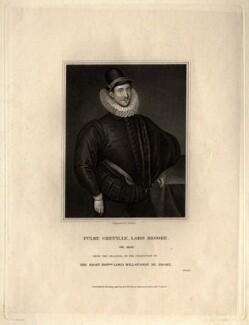 Fulke Greville, 1st Baron Brooke of Beauchamps Court, by Joseph John Jenkins, published by  Harding & Lepard - NPG D1111