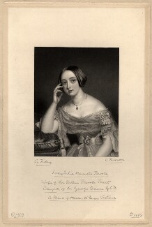 Julia Henrietta (née Anson), Lady Brooke, by James Thomson (Thompson), after  Alfred Tidey - NPG D1113
