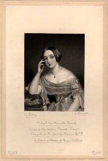 Julia Henrietta (née Anson), Lady Brooke, by James Thomson (Thompson), after  Alfred Tidey - NPG D1113