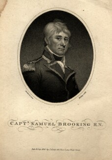 Samuel Brooking, by William Ridley, published by  Joyce Gold, after  James Northcote - NPG D1114