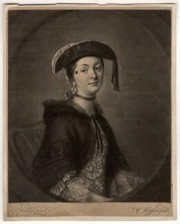 Mrs Brooks, by Richard Houston, after  Thomas Worlidge - NPG D1115