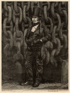 Isambard Kingdom Brunel, by Horace Harral, published by  Illustrated Times, after a photograph by  Robert Howlett, published 16 January 1858 (November 1857) - NPG D1127 - © National Portrait Gallery, London
